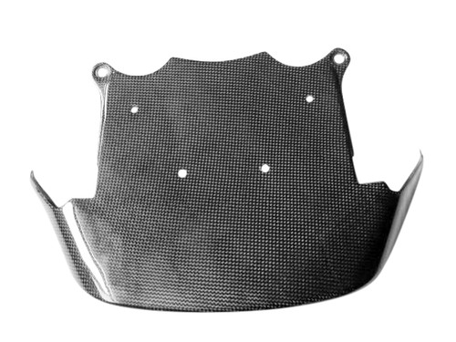 Glossy Plain Weave Carbon Fiber Upper Fairing Tray for Kawasaki ZX12R 02-06