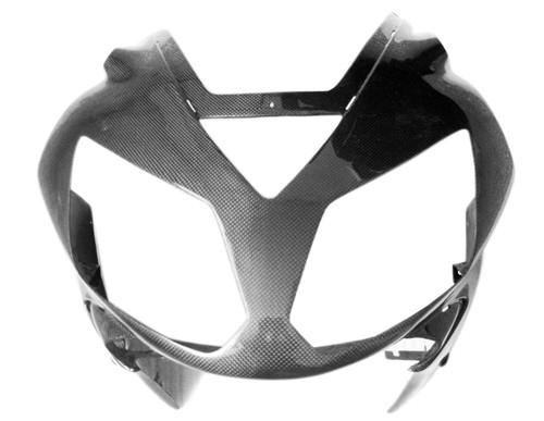 Glossy Plain Weave Carbon Fiber Upper Fairing for Kawasaki ZX12R 02-03