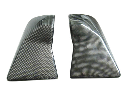 Glossy Plain Weave Carbon Fiber Airbox Side Covers for Kawasaki ZX12R 00-01