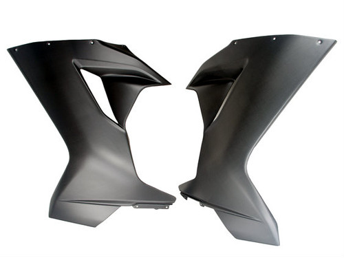 Large Side Panels for MV Agusta F3 675/800 in Matte Plain Weave Carbon Fiber