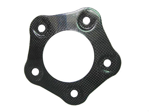 Rear Sprocket Cover for MV Agusta F4 1999-2009 in Glossy Plain Weave Carbon Fiber .