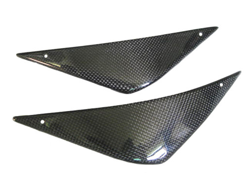 Small Airbox Covers for MV Agusta F4, Brutale  1999-2009 in Glossy Plain Weave Carbon Fiber