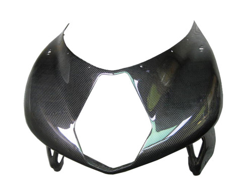 Upper Fairing for MV Agusta F4 1999-2009 in Glossy Plain Weave Carbon Fiber