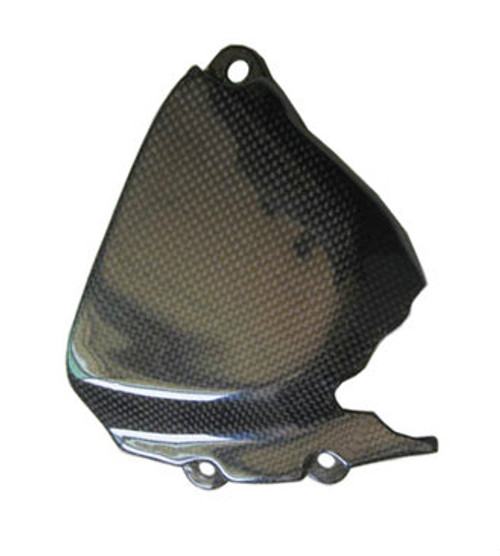 Front Sprocket Cover for MV Agusta F4, Brutale 1999-2009 in Glossy Plain Weave Carbon Fiber