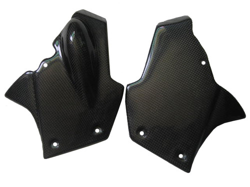 Dash Panels for MV Agusta F4 1999-2009 in Glossy Plain Weave Carbon Fiber
