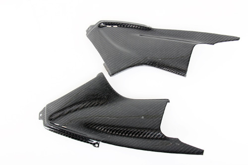 Air Duct Covers Fiber for Yamaha R6 03-05 in Glossy Twill Weave Carbon Fiber