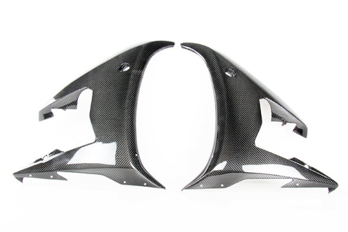 Mid Fairings for Yamaha R6 03-05 in Glossy Twill Weave Carbon Fiber