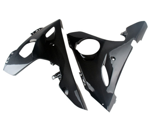 Lower Fairings in Glossy Twill Weave Carbon Fiber for Yamaha R6 03-05