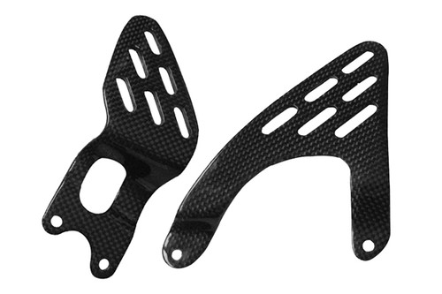 Heel Guards for Yamaha R6 03-05 in Glossy Plain Weave Carbon Fiber