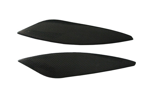 Side Tank Covers for Yamaha R6 03-05 in Glossy Plain Weave Carbon Fiber