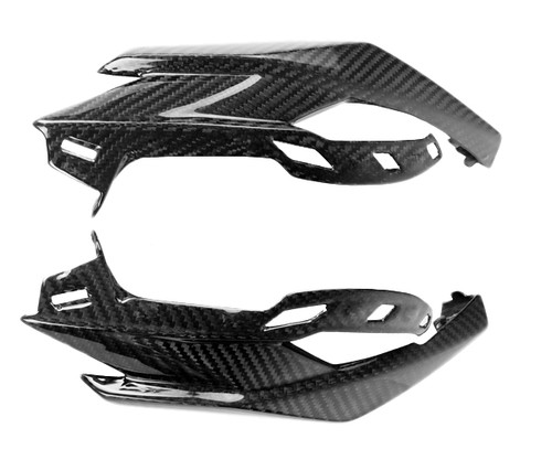 Headlight Fairings for Kawasaki Z1000 2014+ in Glossy Twill Weave Carbon Fiber
