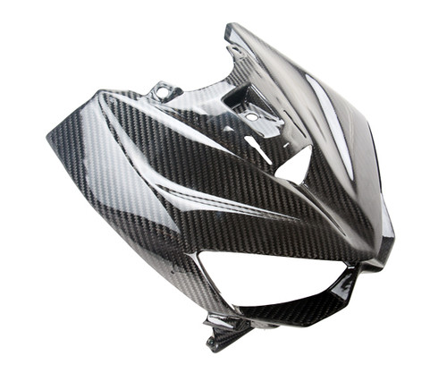 Front Fairing for Kawasaki Z1000 2014+ in Glossy Twill Weave Carbon Fiber
