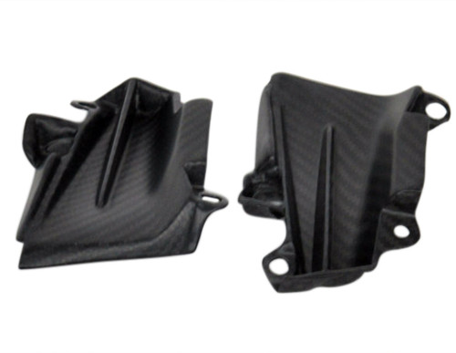 Side Panels (A) in Matte Twill Weave Carbon with Fiberglass for Kawasaki Z1000 2014+