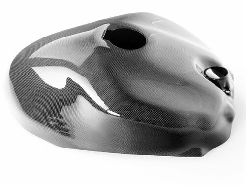 Tank Cover for Ducati Panigale 899, 959, 1199, 1299 in Glossy Plain Weave Carbon Fiber