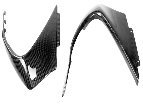 Front Fairing Side Covers for Ducati Panigale 899, 1199 in Glossy Plain Weave Carbon Fiber