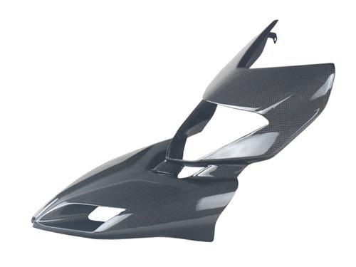 Front Fairing in Glossy Plain Weave Carbon Fiber for Ducati Hyperstrada, Hypermotard 821 2013-2015, 939 2016-2018