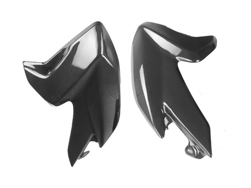 Tank Side Panels for Ducati Hyperstrada, Hypermotard 821 2013+ in Glossy Plain Weave