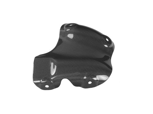 Heat Shield ( with foil) for Ducati Hyperstrada, Hypermotard 821 2013+ in Glossy Plain Weave Carbon Fiber