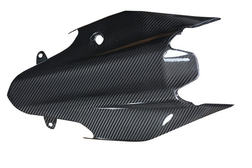 Undertray in Glossy Twill Weave Carbon Fiber for Ducati Monster 821 15-17, 1200(S) 14-16