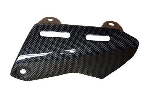 Exhaust Cover (B) in Glossy Plain Weave Carbon Fiber for Ducati Monster 1200