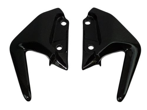 Passenger Handles in Glossy Plain Weave Carbon Fiber for Ducati Monster 821 15-17, 1200(S) 14-16