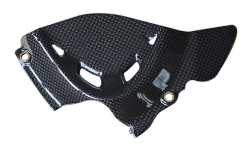 Sprocket Cover in Glossy Plain Weave Carbon Fiber for Ducati Monster 1200(S) 14-16, 1200R 2016+
