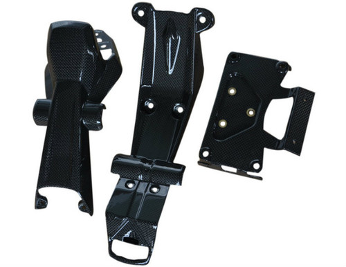 Tail Section Assembly in Glossy Plain WeaveCarbon Fiber for Ducati Hyperstrada, Hypermotard 821