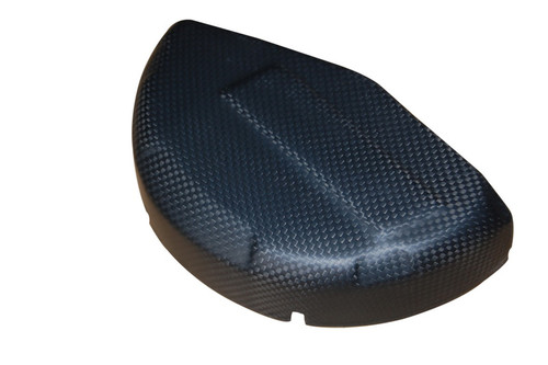 Clutch Cover DP Style in Matte Plain Weave Carbon Fiber for Ducati Panigale 899, 959, 1199, 1299