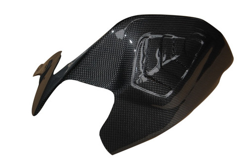 Swingarm Cover (a) in Glossy Plain Weave  Carbon Fiber for Ducati Panigale 1199