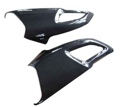 Air Intakes in Glossy Twill Weave  Carbon Fiber for Ducati Diavel  2011-2013