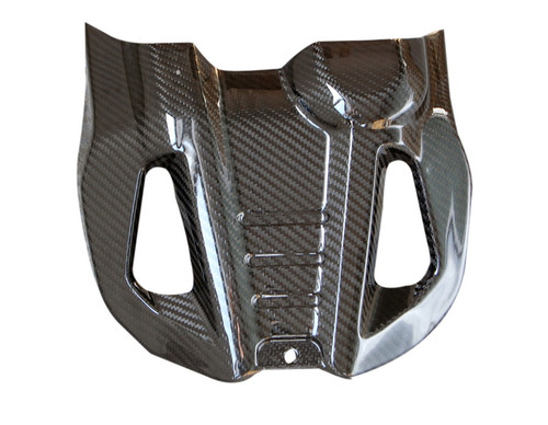 Belly Pan in Glossy Twill Weave Carbon Fiber for Ducati Hyperstrada, Hypermotard 821 2013+
