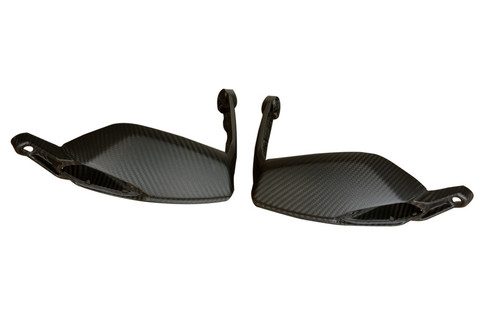 Hand Guards in Matte Twill Weave Carbon Fiber for Ducati Hyperstrada, Hypermotard 821 2013-2015