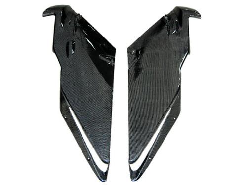 Side Fairings in Glossy Plain Weave Carbon Fiber for Ducati 749, 999