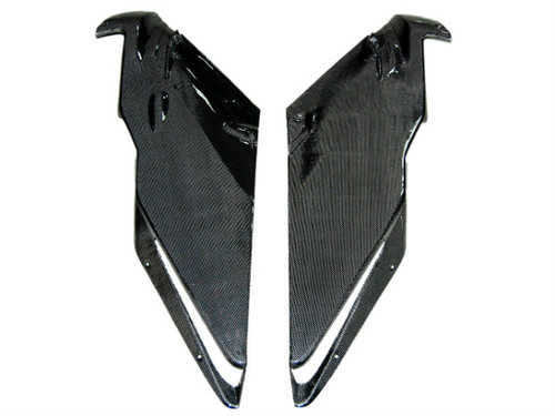 Side Fairings in Glossy Plain Weave Carbon Fiber for Ducati 749, 999
