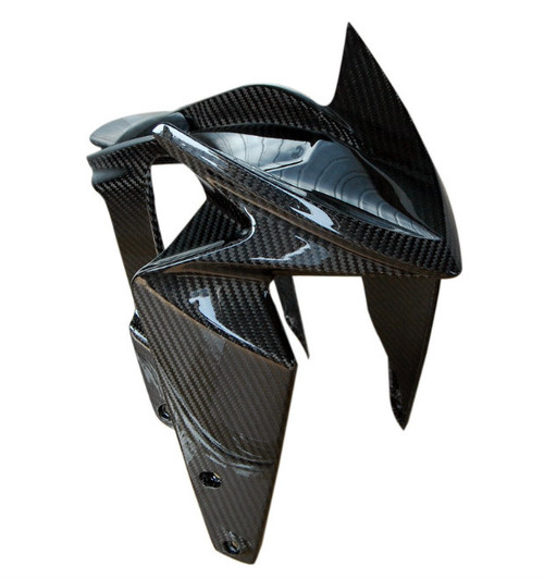 Front Fender in Glossy Twill Weave Carbon Fiber for MV Agusta Rivale 800