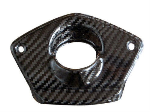 Key Cover in Glossy Twill Weave Carbon Fiber for MV Agusta Rivale 800