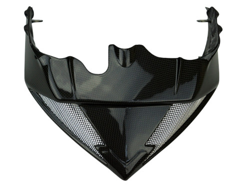 Front Fairing (top) in Glossy Plain Weave Carbon Fiber for MV Agusta Rivale 800