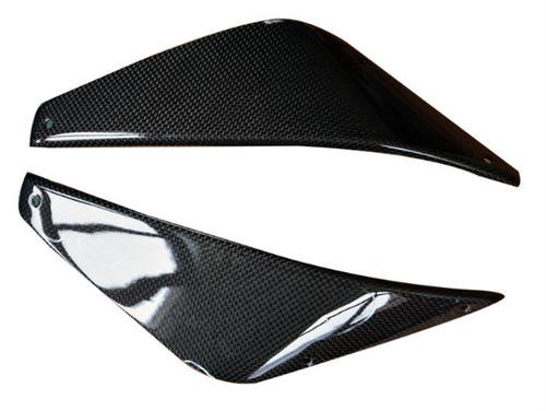 Side Covers (B) in Glossy Plain Weave Carbon Fiber for MV Agusta Rivale 800