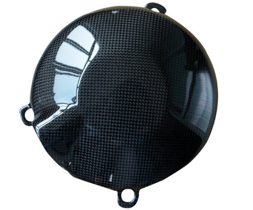 Clutch Cover Cover in Glossy Plain Weave Carbon Fiber for MV Agusta Rivale 800, Dragster 800, Brutale 675/800, F3