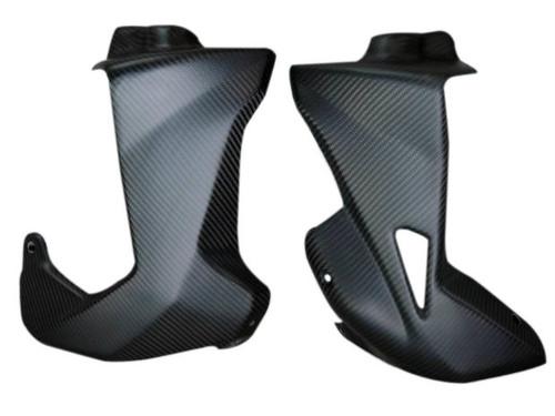 Lower Fairings in Matte Twill Weave Carbon Fiber for MV Agusta Rivale 800