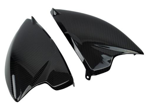 Side Fairings (B) in Glossy Twill weave Carbon Fiber for MV Agusta Rivale 800