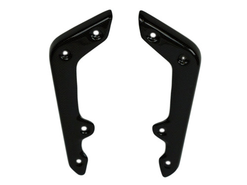 Front Fender Holders in Glossy Plain Weave Carbon Fiber for MV Agusta Dragster