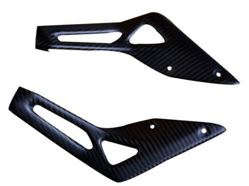 Under Seat Panels in Matte Twill Weave Carbon Fiber for MV Agusta Dragster
