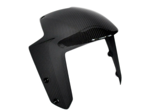 Front Fender (front part) in Glossy Twill Weave Carbon Fiber for KTM 1290 Super Duke R