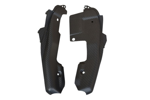 Rear Seat Side Panels in Matte Twill Weave Carbon Fiber for Yamaha FZ-09/ MT-09 2014-2016