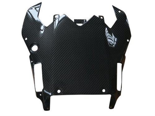 Seat Undertray in Glossy Twill Weave Carbon Fiber for Yamaha R6 08-16
