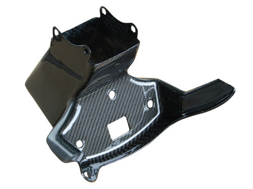 Upper Fairing Stay Bracket in Glossy Twill Weave Carbon Fiber for Yamaha R6 08-16