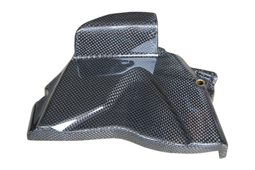 Sprocket Cover in Glossy Plain Weave Carbon Fiber for Yamaha R1 09-14