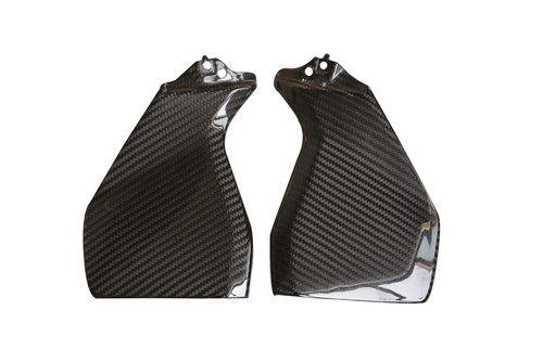 Tank Side Panels in Glossy Twill Weave Carbon Fiber for Yamaha FZ-09/ MT-09