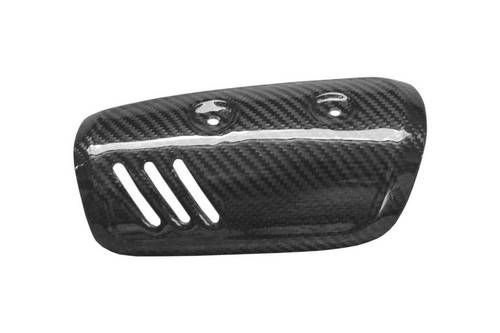 Exhaust Cover in Glossy Twill Weave Carbon Fiber for Yamaha FZ8 2010-2013